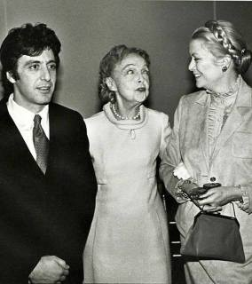 Princess Grace Kelly Al Pacino and Lillian Gish attend the Theatre Hall Of Fame Awards held on March 28, 1982 at the Uris Theater, now called the Gershwin Theater, New York City
