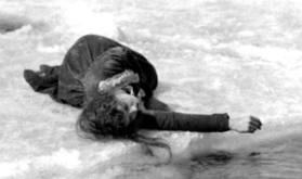 Lillian Gish on the ice floe - Way Down East