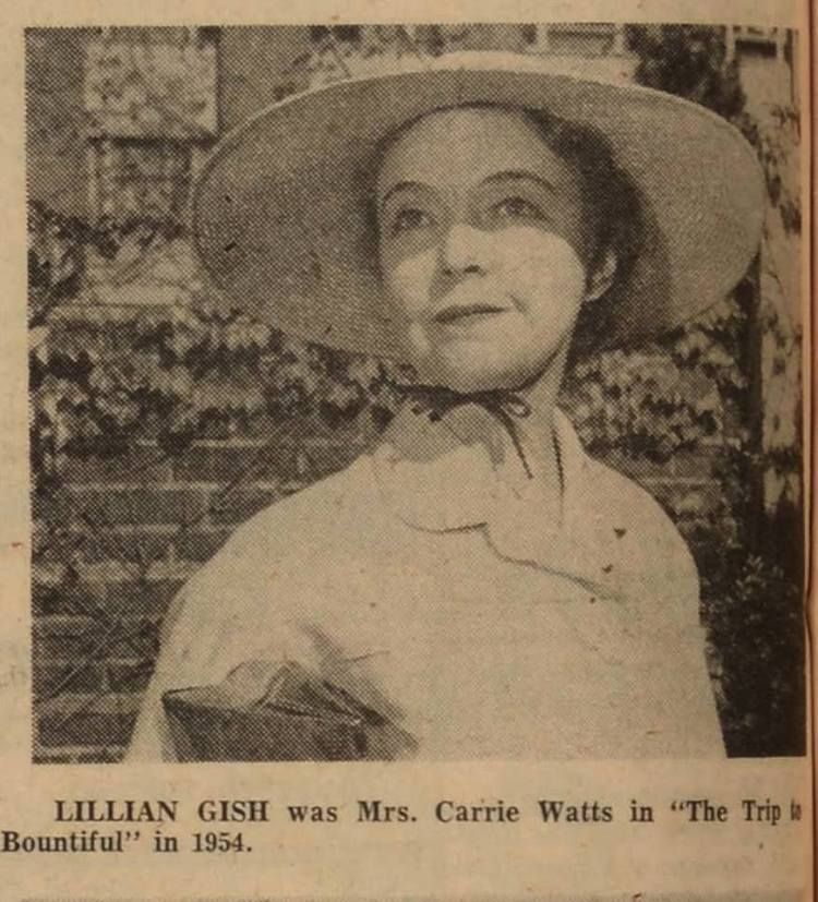 Miss Lillian Gish (Mrs. Carrie Watts) - The Trip To Bountiful
