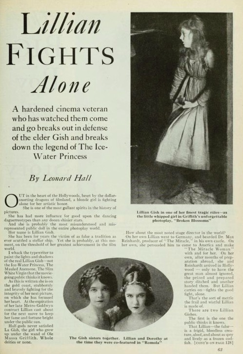 Lillian Fights Alone Photoplay 1