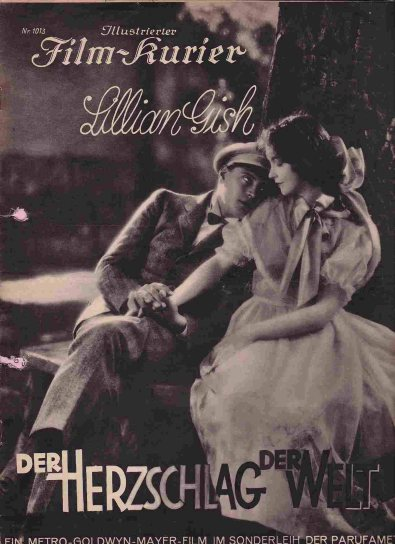 Lillian Gish and Ralph Forbes in Niblos - The Enemy - German Poster