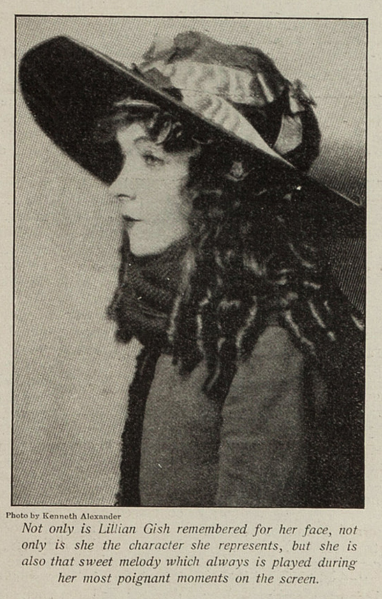Lillian Gish and the music representing her (Kenneth Alexander)